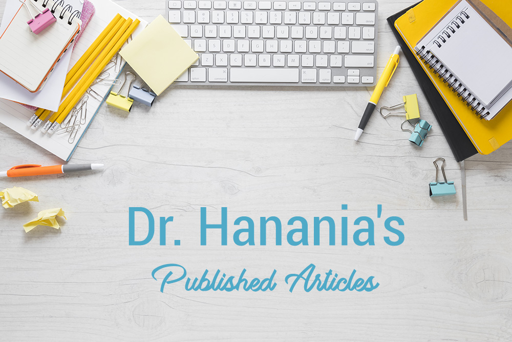 Dr. Hanna Hanania - Published Articles | Blog